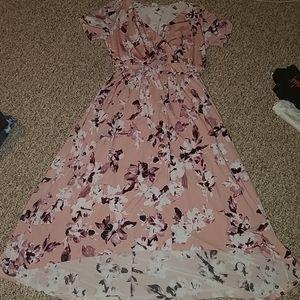 Floral high lo dress NWOT